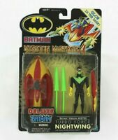 Mission Masters 4 Turbo Force Nightwing Action Figure w/ Vehicle 2002 Hasbro
