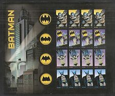 2014 #4928-4935 Batman Pane of 20 with 8 Designs MNH