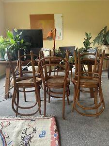 Set Of 6 Bentwood Thonet No 14 Vienna Style Chairs by Drevounia Czechoslovakia