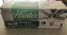 "HUNTER Apex 54"" LED INDOOR BRUSHED NICKEL CEILING FAN with LIGHT + REMOTE"