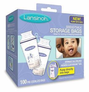 Lansinoh  Breast Milk Breastmilk Storage Bags 100 Pack- Stock in Sydney