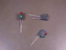 Lot of 3 PCT125-BR5V/BG5V DDP Dual Stacked PCB Mount LED T-1 Red / Green 2 Lead