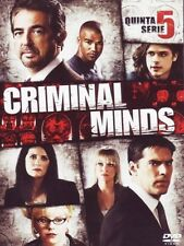 CRIMINAL MINDS - STAGIONE 05 (6 DVD) COFANETTO NUOVO, ITALIANO, ORIGINALE