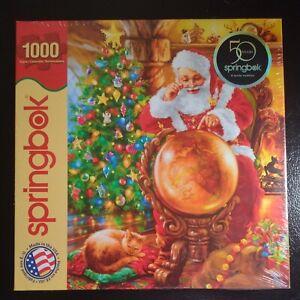 Christmas Joy Around the World 1000 Piece Puzzle Springbok Santa Cat NEW 2013