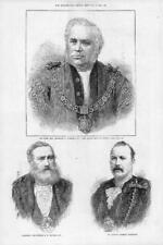 1880 Antique Print PEOPLE Aldermen Fowler MacArthur Sheriff Waterlow Mayor (175