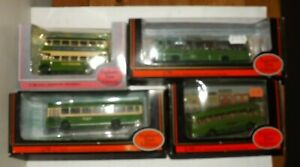 JOB LOT OF 4 EFE SOUTHDOWN BUSES 4MM 1:76 SCALE