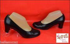 Escarpins ♥ CHERRY Boutique ♥ Taille 37 ½ TOUT CUIR Noir Réglisse !