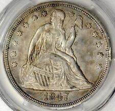 PCGS AU50 1847 SEATED LIBERTY DOLLAR