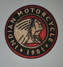 """Indian Motorcycles """" Red & Black Embroidered Iron On Patches 3"""" Round"""