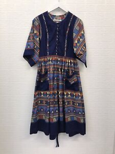 Vintage Liberty Dress UK 14 Patterned Multicolour Zip Fastening Cotton