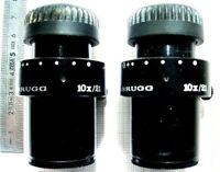 1 Pair of WILD 10X/21 BINOCULAIRE MICROSCOPE EYEPIECE LEICA HEERBRUGG 2