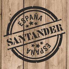 Vinilo de Corte Santander Pegatina Santander España 10 cm Adhesivo Pared Tablet