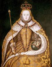 Queen Elizabeth I Of England Coronation Portrait Canvas Giclee 8x10 Art Print