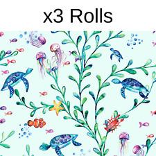 x3 Rolls Under The Sea Wallpaper Holden Kids Sea Life Turtles Teal Green