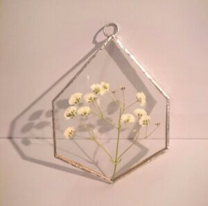 Babys Breath Dried Gypsophilia Stained Glass Gift Wall Home Eternal Love Bride