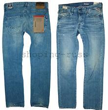 NEW REPLAY WAITOM LASERBLAST Jeans W-30 L-32 Light blue cast denim REGULAR SLIM