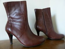 Next Ladies Brown Leather Ankle Boots size 6 Euro 39.