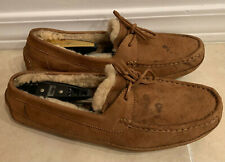 UGG AUSTRALIA SIZE 13 MOCASSIN SHOES SLIPPERS LEATHER SHEEPSKIN NO RESERVE LOOK!