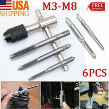 TAP WRENCH & CHUCK SET METRIC M3 M4 M5 M6 M8 and die - 6 Piece Repair Tool NEW