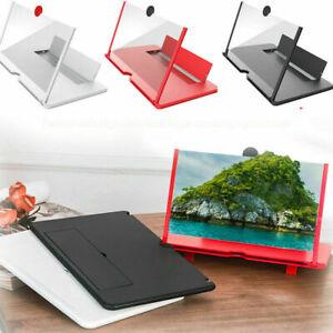"""10"""" 12"""" Faltbare Bildschirmlupe Mobiltelefone 3D Screen Amplifier Handy Halter"""