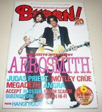 BURRN! 6/05 Japan Magazine Tyler Perry Accept Priest Crue Hanoi Rocks poster