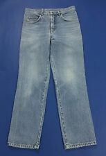 jeans vintage W35 48 49 uomo straight slim gamba dritta usati dritti blu T1767