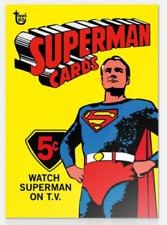 2018 Topps 80th Anniversary Wrapper Art #16 Superman 1966 TV SHOW Card