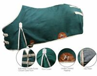 Showman Treated Canvas Water Resistant Horse Blanket w/ Wool Blend Lining
