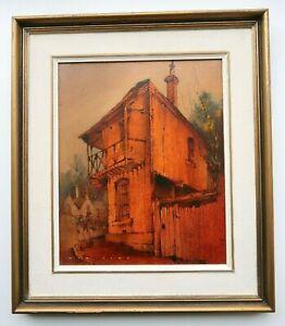 Alex McMillan (1910-87) Original Oil Painting - Balmain House