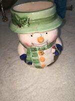 snowman christmas vase