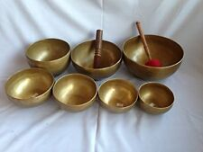 Chakra Healing Tibetan Singing Bowl Set of 7 Hand Hammered Himalayan Meditations