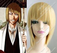COS WIGS BLEACH Hirako Shinji Short Straight Orange Green Cosplay Hair Wig NEW