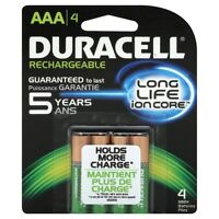 Duracell Rechargeable AAA Batteries 4 Count