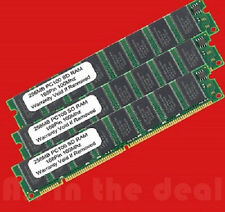 3 X 256MB PC100 SDRAM FOR HP DELL SONY IBM COMPAQ