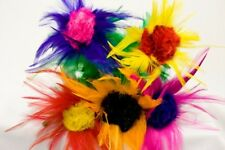 "SLEEVE FEATHER FLOWER BOUQUET 12"" Stage Magic Trick 5 Bud Production Magician"