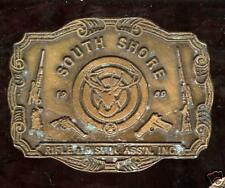 old 1969 dated South Shore RIFLE Pistol Assn Deer Gun Buckle