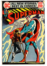 Superman #254 7.5 Off-White Pages Bronze Age B Neal Adams