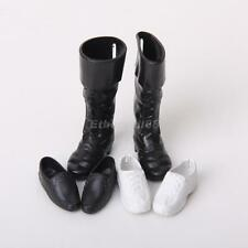 3 Pairs Cool Shoes Sports Sneakers Knee High Boots for Barbie Boyfriend Ken Doll