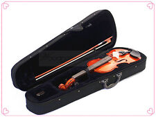 School student 1/2 Solidwood Violin-Bow-Rosin-Case & A Free String Set