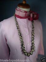 Kette im Ethno Look ✿ Boule Gris Noir 90 cm ✿ HALSKETTE Necklace Collier