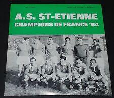 RARE 45 T AS SAINT-ETIENNE ASSE VERTS CHAMPIONS DE FRANCE 64 1964 JBP RECORDS