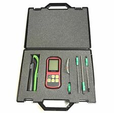 General Purpose Type K Thermocouple Kit with Case, Meter, Handle and 4 probes