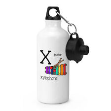 Letter x is for Xylophone Sport Bottle Alphabet Drinks Camping Canteen