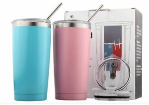 2PK Sivaphe Vacuum Double Walled Insulated Tumblers with Straw Lids 550ML