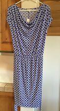 NWT Banana Republic size M knit dress cap sleeved navy white lined skirt $79.99