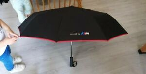 New BMW M Sport Umbrella Fully Automatic Push Button Brolly Red Trim M Series