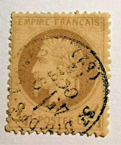 FRANCE TYPE EMPIRE 4c GRIS N° 27 (TB-1489-5) CACHET à Date 4e bureau Dieppe