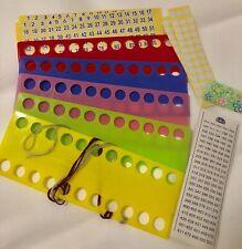 5 New Plastic Floss Thread Board Cross Stitch + DMC stickers +Free use sticker