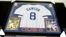 ANDRE DAWSON AUTHENTIC AUTOGRAPHED FRAMED AND MATTED CHICAGO CUBS JERSEY