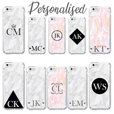 Personalised Custom Name Initials Text Case For iPhone 6 7 8 X SE 11 12 Mini Pro
